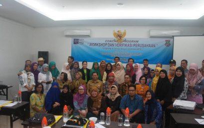 Workshop & Verifikasi Perusahaan dalam Rangkaian Kegiatan Coaching Program area Tangerang tahun 2018
