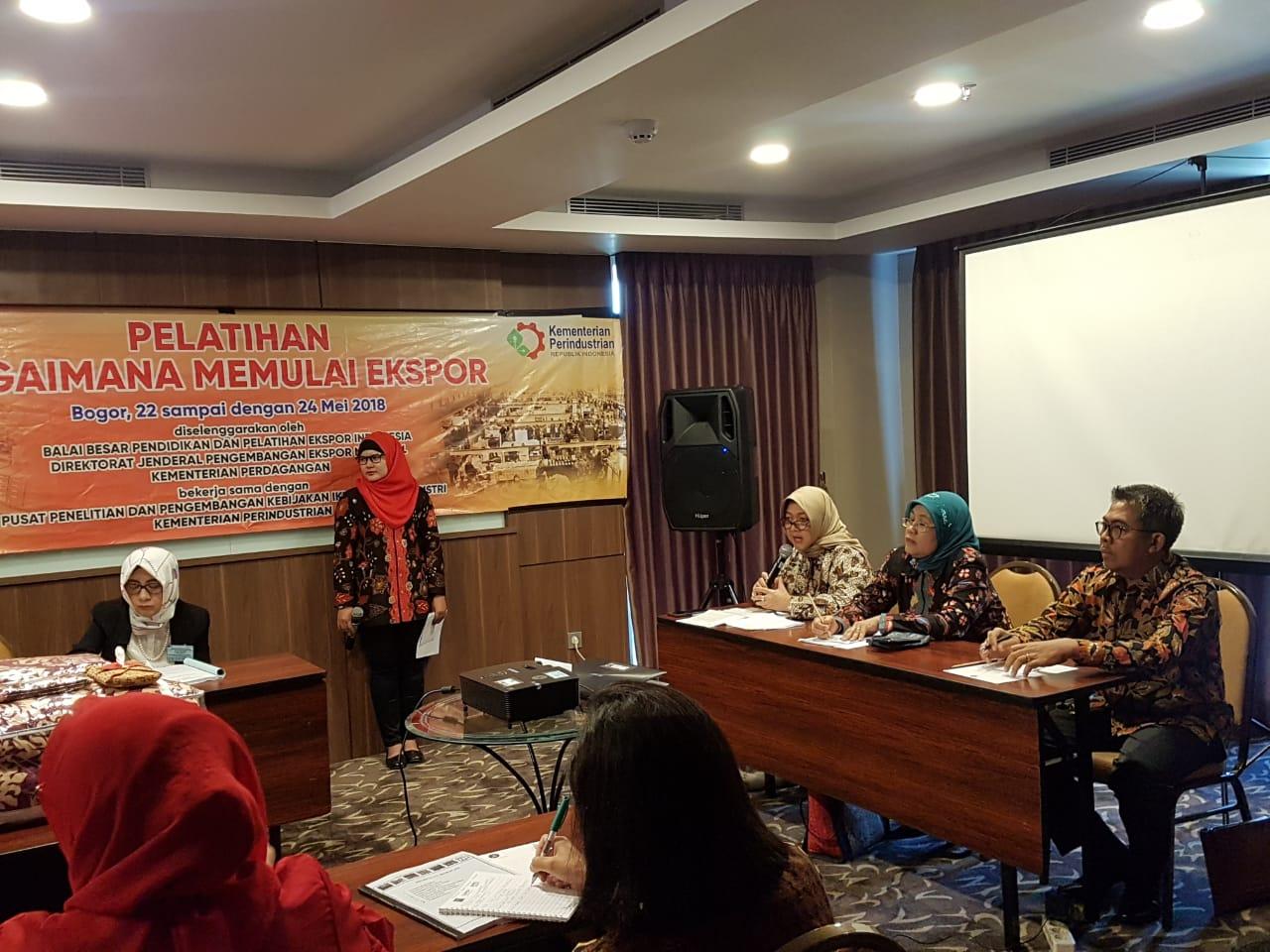 Pelatihan Bagaimana Memulai Ekspor di Bogor tanggal 22 – 24 Mei 2018