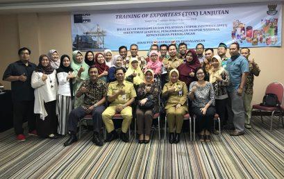 Kegiatan Training of Exporters (TOX) Lanjutan, 7 – 9 Agustus 2018
