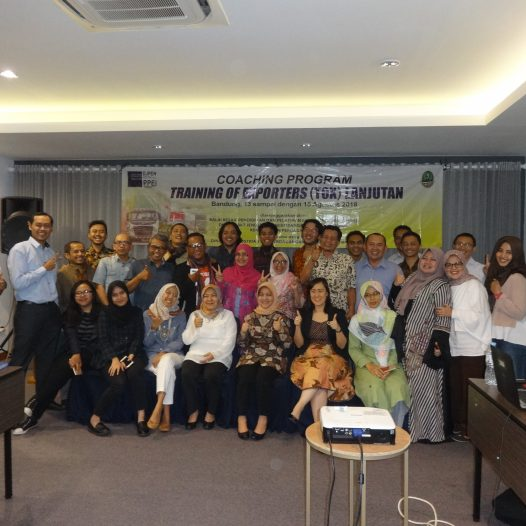 Kegiatan Export Coaching Program: Training of Exporters (TOX) Lanjutan, Bandung, 13-15 Agustus 2018