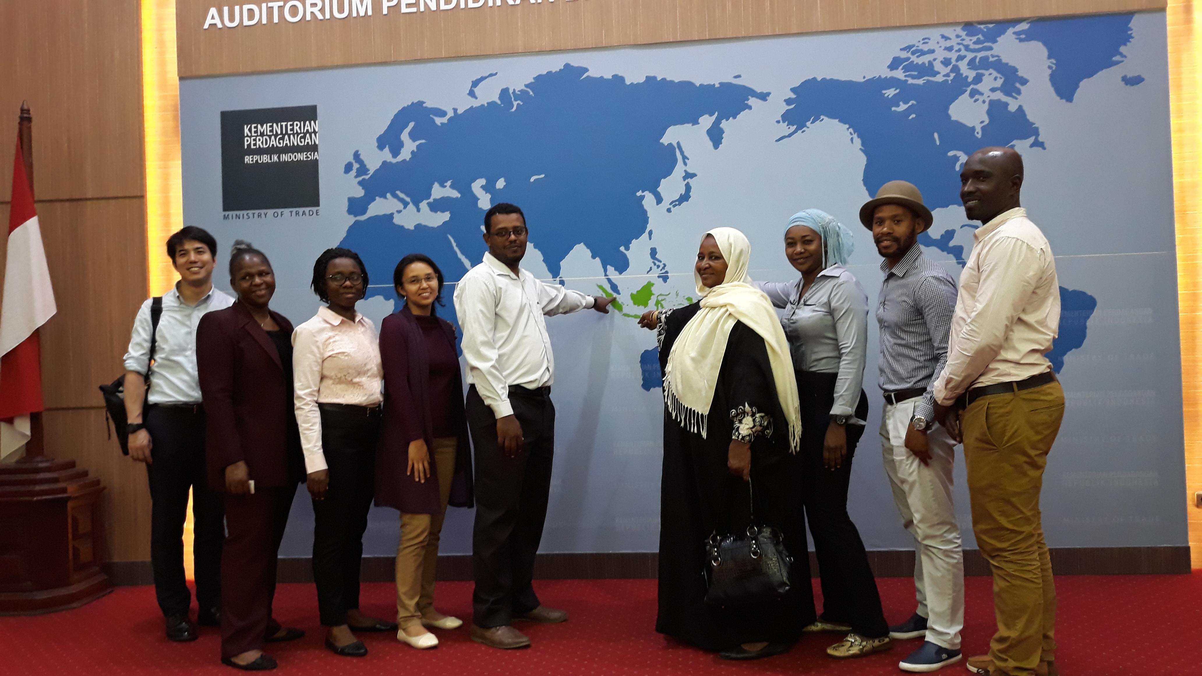 Kunjungan JICA dan Delegasi Peserta Facilitating Trade And Investment For African Countries Through Regional Economic Coorperation