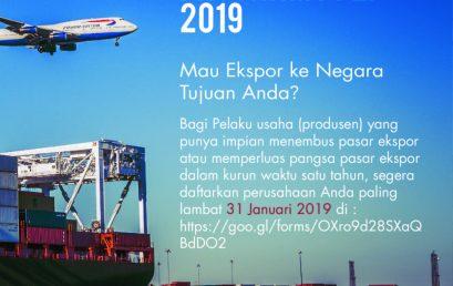 Rekrutmen Calon Peserta Export Coaching Program (ECP) PPEI Tahun 2019