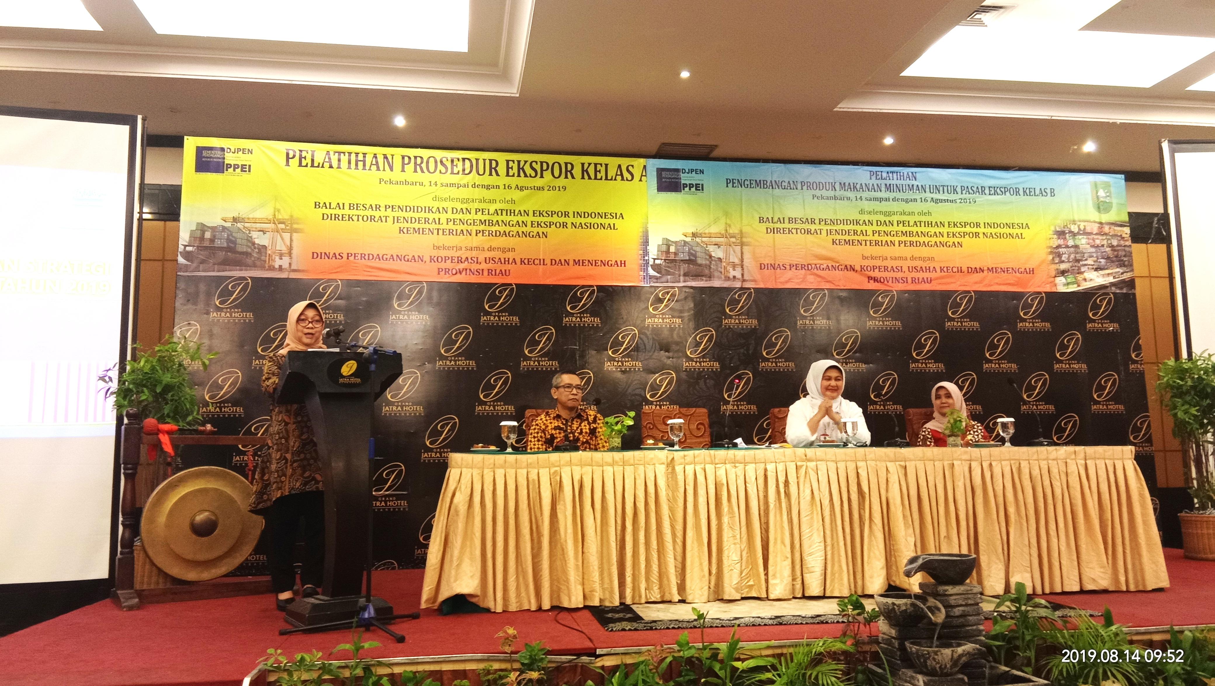 Kegiatan Pembukaan Pelatihan di Riau oleh Kepala Balai Besar