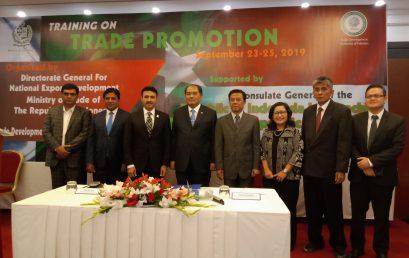 """Training on Trade Promotion"" untuk pegawai Trade Development Authority of Pakistan (TDAP) di Karachi, Pakistan"