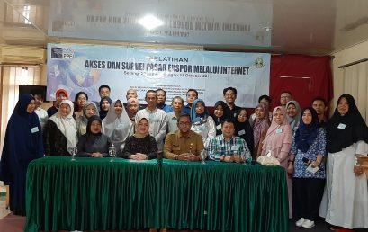 """Pembukaan Pelatihan """"Akses dan Survei Pasar Ekspor Melalui Internet"""" tanggal 29-31 Oktober 2019 di Serang"""