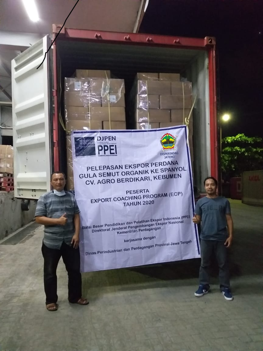Peserta Export Coaching Program dari Kebumen, Jawa Tengah sukses melakukan ekspor perdana ke Eropa