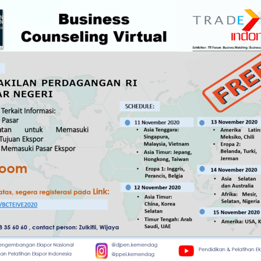 "Business Counseling Virtual ""Trade Expo Indonesia – Virtual Exhibition 2020"""