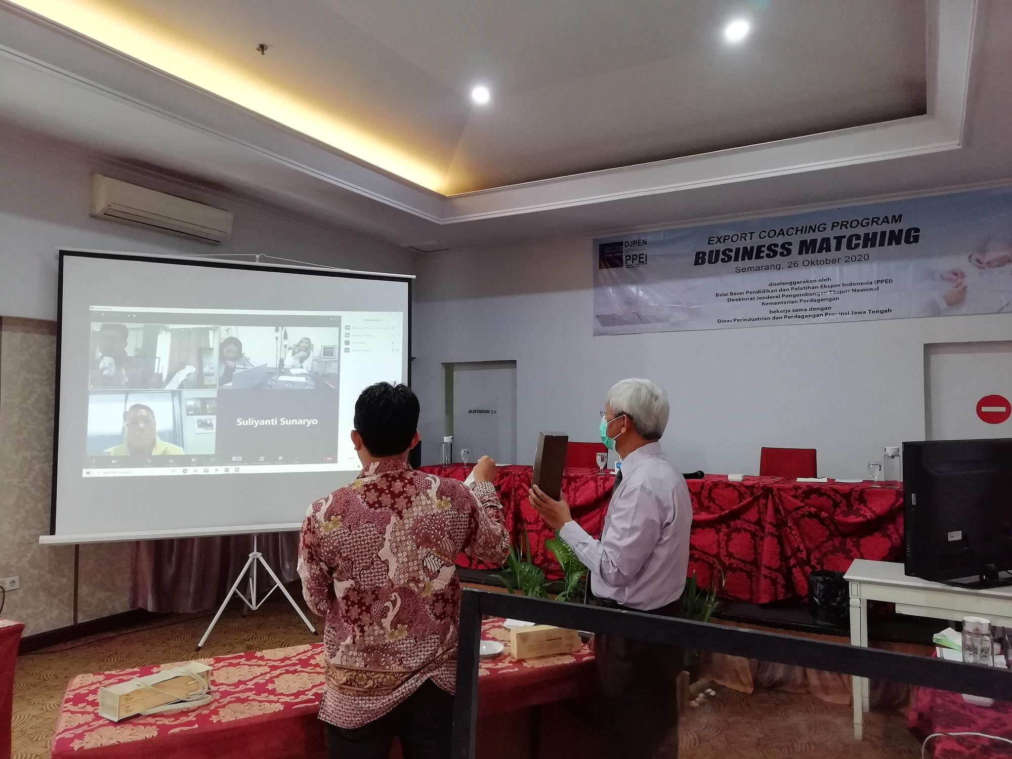 Balai Besar PPEI Menyelenggarakan Business Matching pada Export Coaching Program wilayah Jawa Tengah dan Banyuwangi