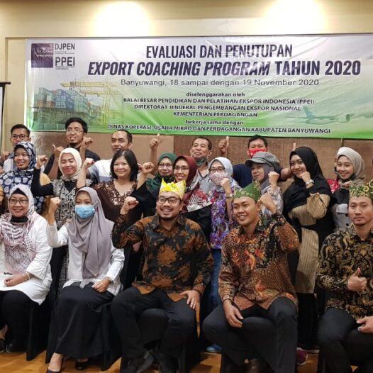 """Sukses""  41 Pelaku Usaha Peserta Export Coaching Program PPEI Tahun 2020 Berhasil Ekspor Dengan Capaian Transaksi Mencapai Rp 34 Milyar"