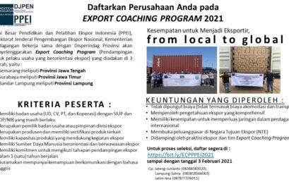 EXPORT COACHING PROGRAM (ECP) PPEI 2021