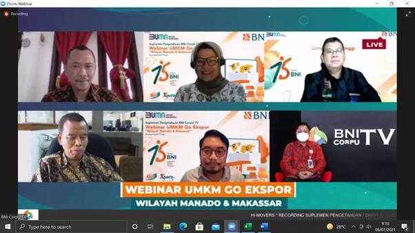 PPEI Gandeng BNI Adakan Webinar Ekspor Area Indonesia Timur