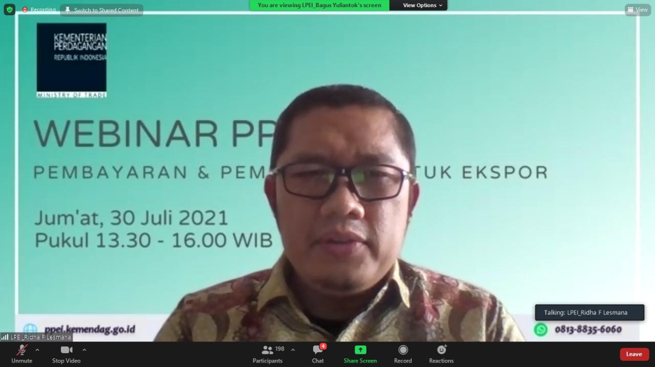 """PPEI Gelar Webinar """"Pembayaran dan Pembiayaan untuk Ekspor"""""""